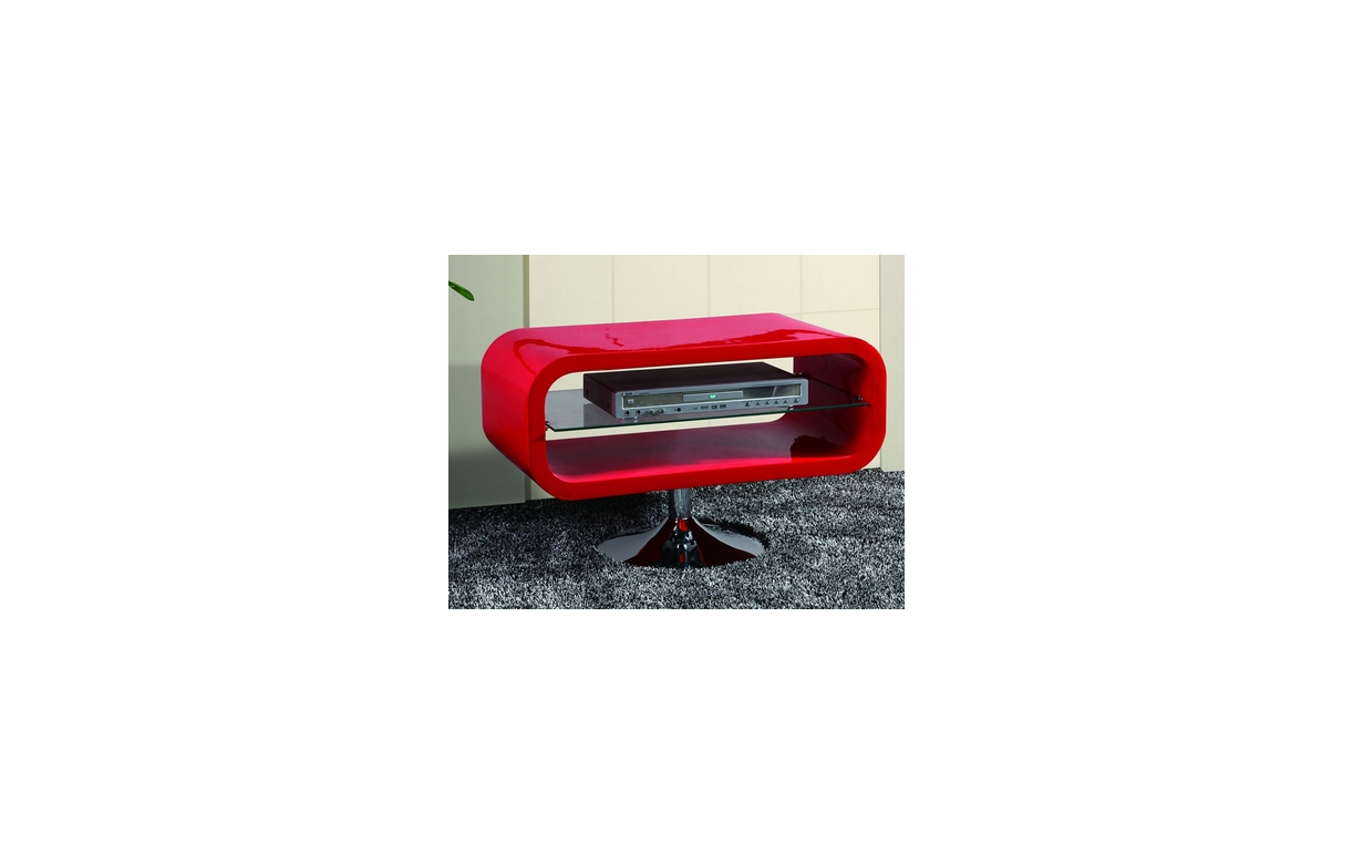 Meuble Tv Rouge Laqu Pivotant Vintage Look Decome Store # Meuble Tv Laque Rouge