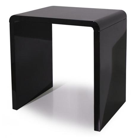 Console design laquée taupe gris noir ou blanc 70 cm -