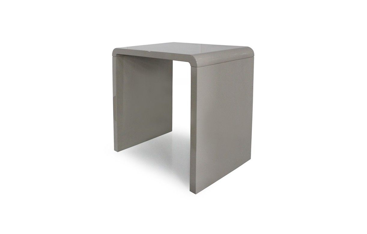 Console design laqu e taupe gris noir ou blanc 70 cm - Bureau gris taupe ...