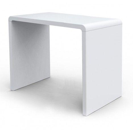 Console design laquée noire blanche ou taupe 90 cm -