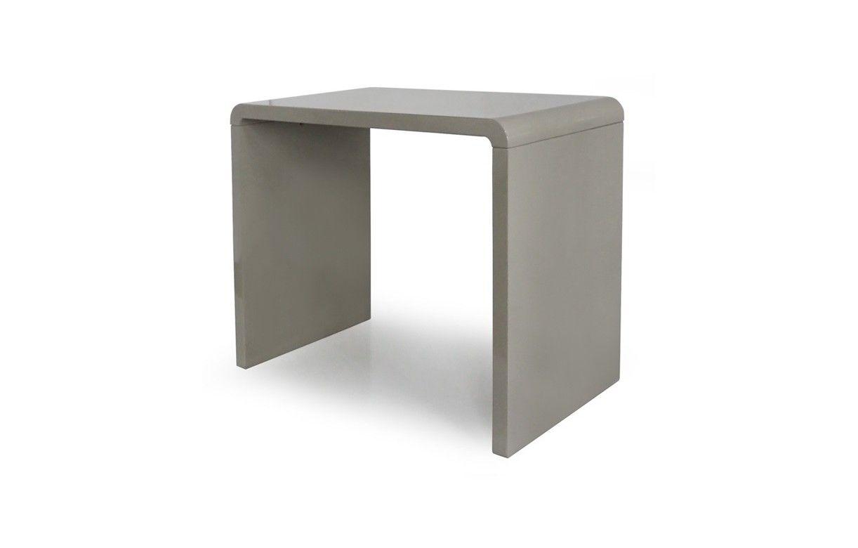 console design laqu e noire blanche ou taupe 90 cm. Black Bedroom Furniture Sets. Home Design Ideas
