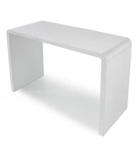 Console design laquée blanche, noire ou taupe 110 cm