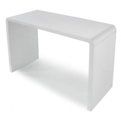 Console design laquée blanche, noire ou taupe 110 cm -