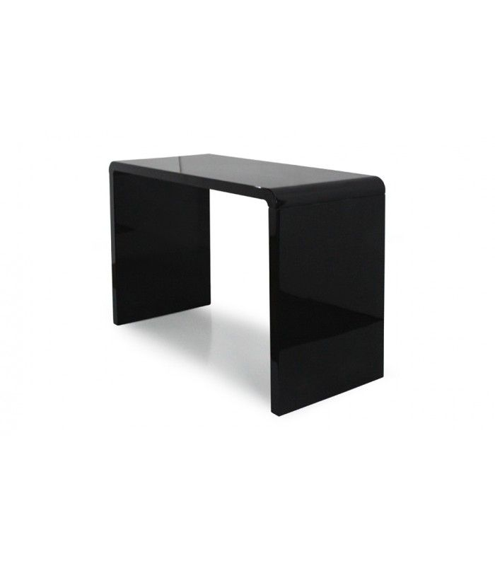 Console Design Laquee Blanche Noire Ou Taupe 110 Cm