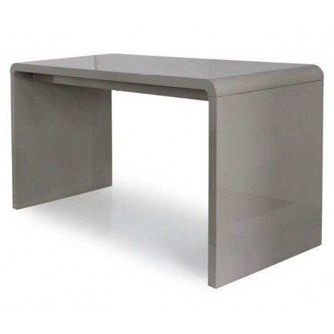 Console design ou Bureau laqué taupe, noir ou blanc 140 cm -