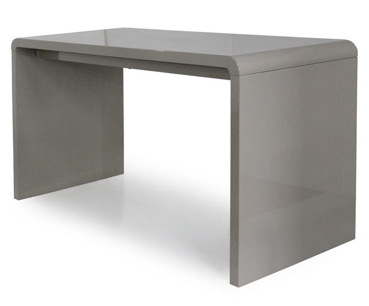 Console design ou bureau laqué taupe noir ou blanc cm