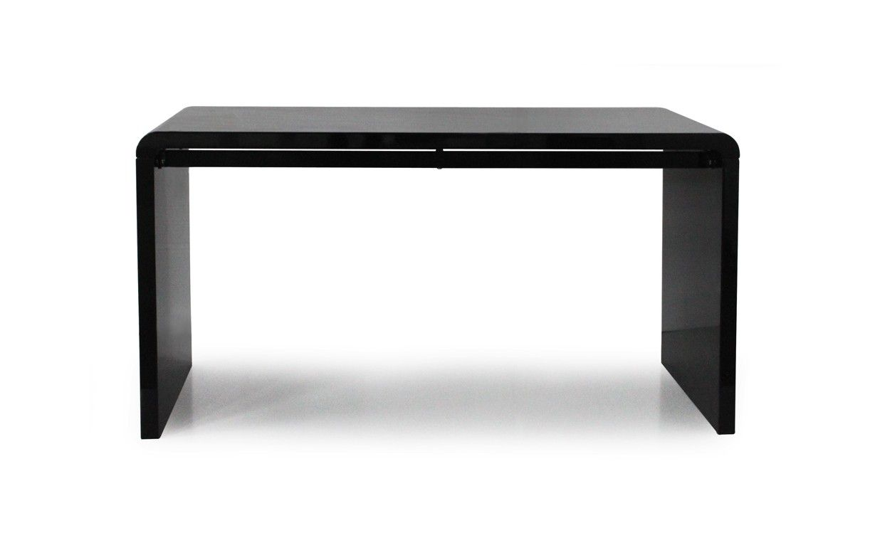console design ou bureau laqu taupe noir ou blanc 140 cm decome store. Black Bedroom Furniture Sets. Home Design Ideas