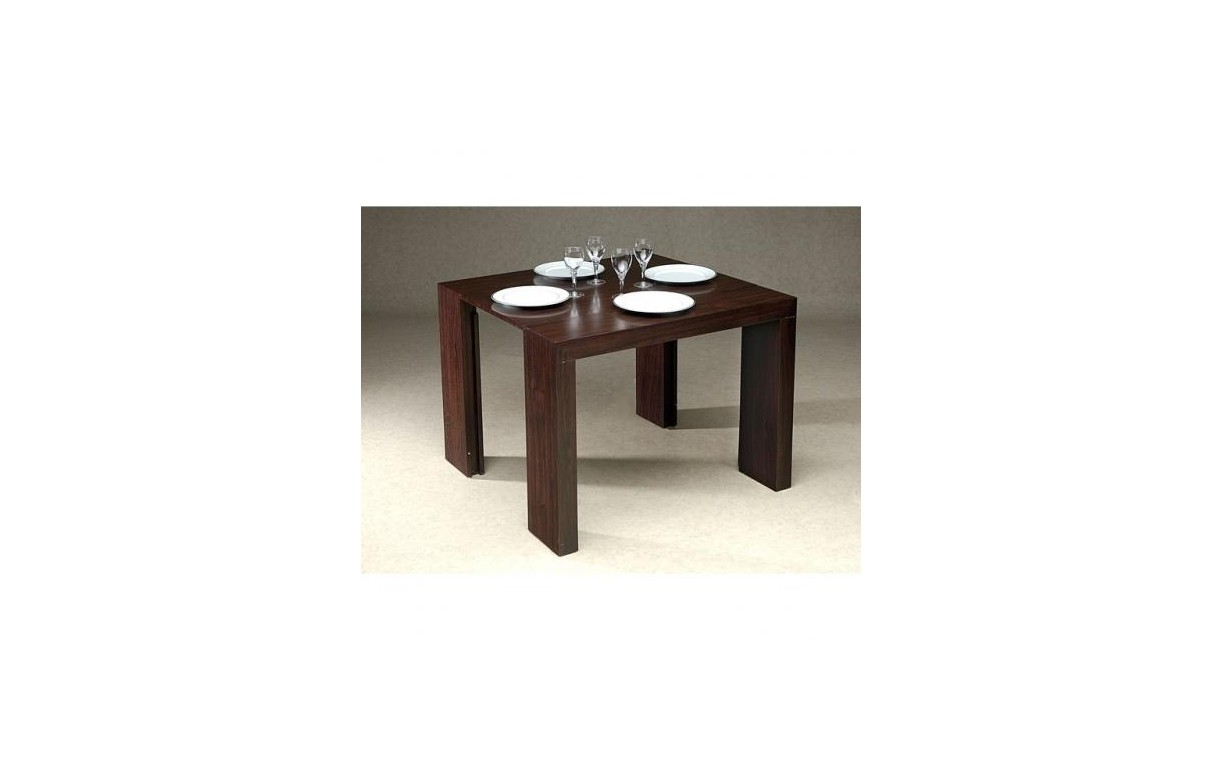 Table console extensible laquée wengé 185 cm + 3 rallonges - Decome ...