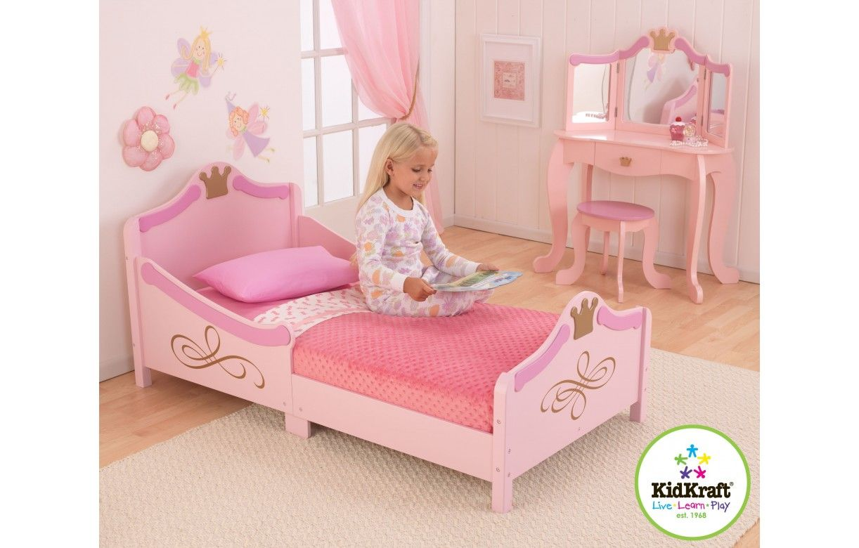 lit petite fille rose princesse kidkraft 76139. Black Bedroom Furniture Sets. Home Design Ideas