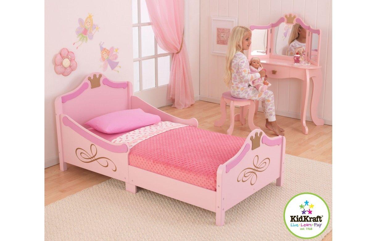 Lit petite fille rose princesse kidkraft 76139 for Chambre petite fille rose