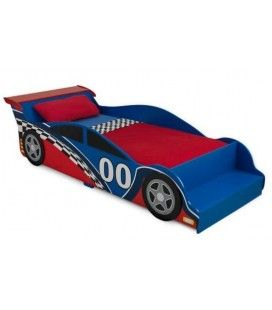 Lit petit garçon bleu et rouge Voiture Formule 1