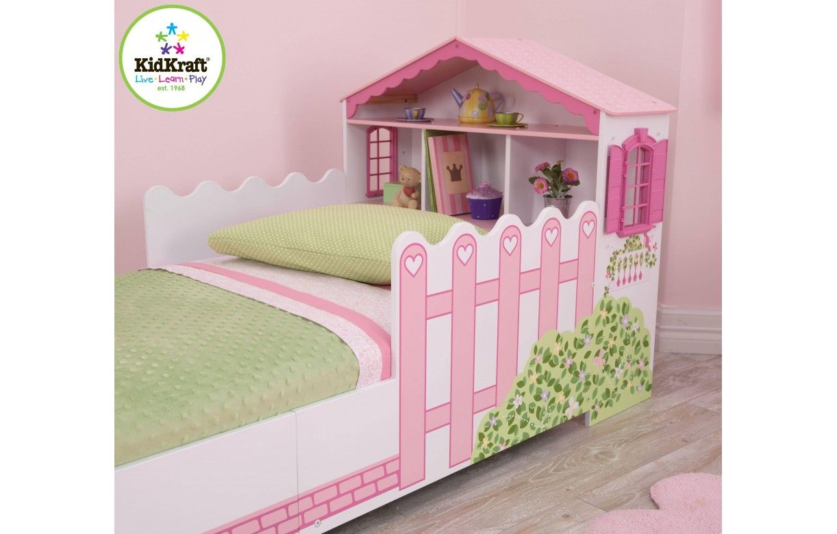lit petite fille maison de poup e kidkraft 76255. Black Bedroom Furniture Sets. Home Design Ideas