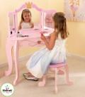 Coiffeuse et tabouret rose petite fille Princesse Kidkraft 76123 -