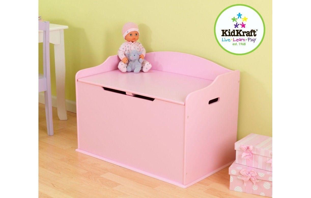 Coffre jouets rangement de chambre rose decome store for Rangement jouet chambre enfant