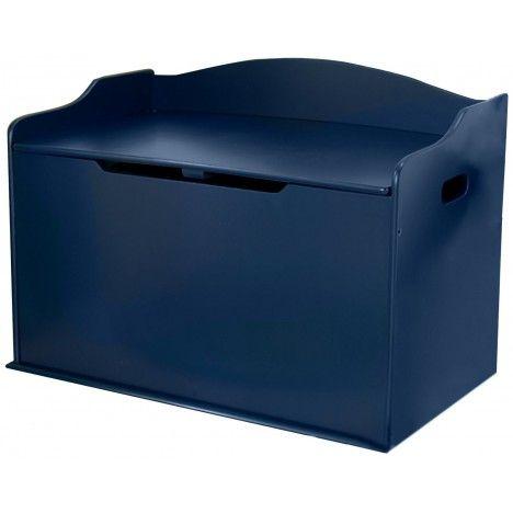 Coffre à jouets rangement de chambre bleu Myrtille -