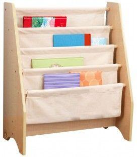 Bibliothèque pour enfants bois et toile souple