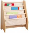 Bibliothèque pour enfants bois et toile souple -