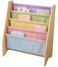 Bibliothèque pour enfants bois et toile souple 4 couleurs -