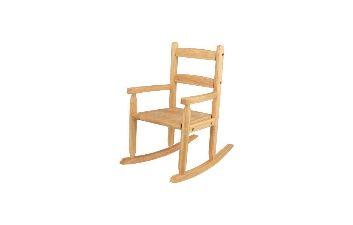 chaise bascule rocking chair pour enfant en bois. Black Bedroom Furniture Sets. Home Design Ideas