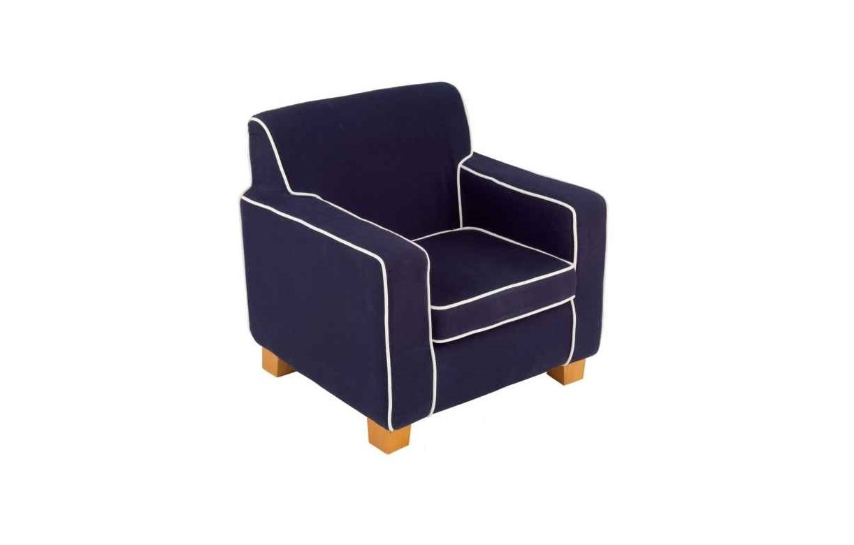 fauteuil pour enfant en tissu bleu laguna decome store. Black Bedroom Furniture Sets. Home Design Ideas