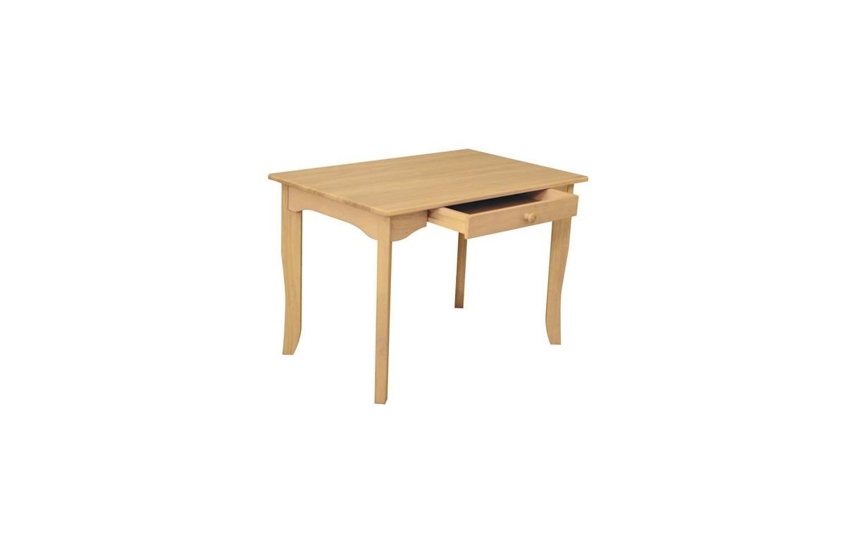 table pour enfant en bois de caoutchouc avec tiroir avalon decome store. Black Bedroom Furniture Sets. Home Design Ideas