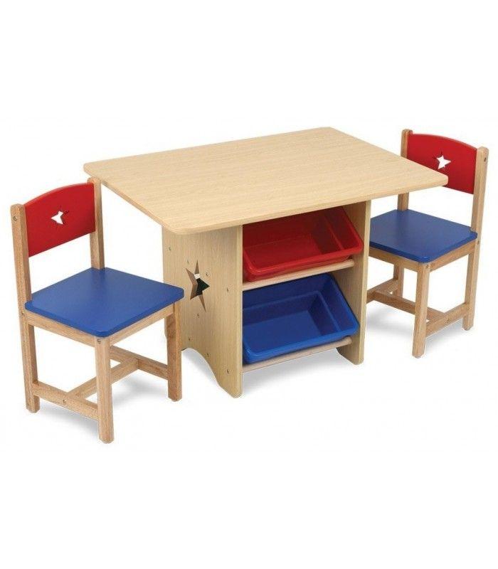 table et 2 chaises enfant bleu rouge kidkraft 26912. Black Bedroom Furniture Sets. Home Design Ideas