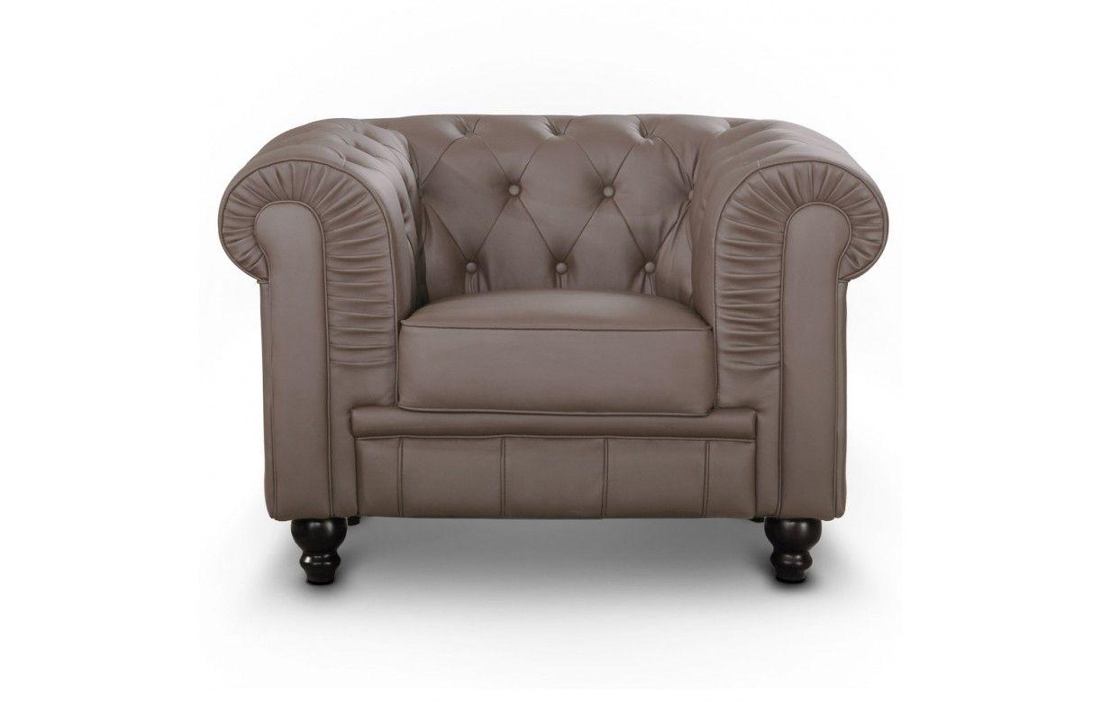 fauteuil en simili cuir capitonn chesterfield 7 coloris. Black Bedroom Furniture Sets. Home Design Ideas