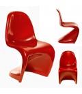 Chaise design Verner Panton en ABS brillant - 9 coloris -