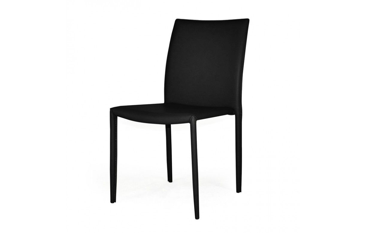 Chaise empilable en simili cuir design for Chaise en simili cuir