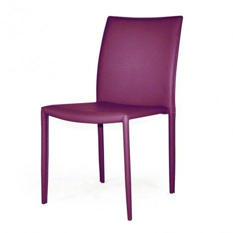 Chaise en simili cuir empilable Simplio - 8 coloris -