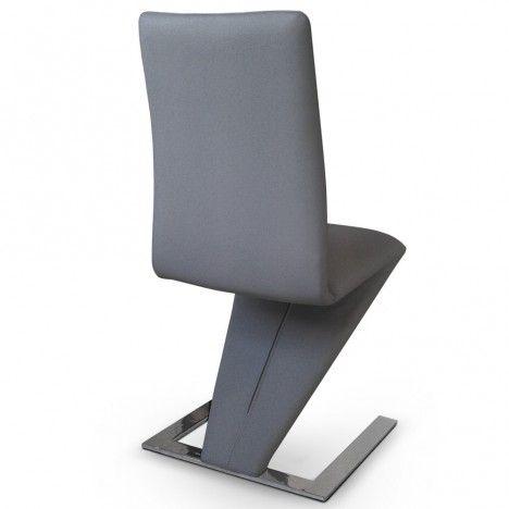 Lot de 2 chaises en cuir PU et piètement design SizeBis - 6 coloris -