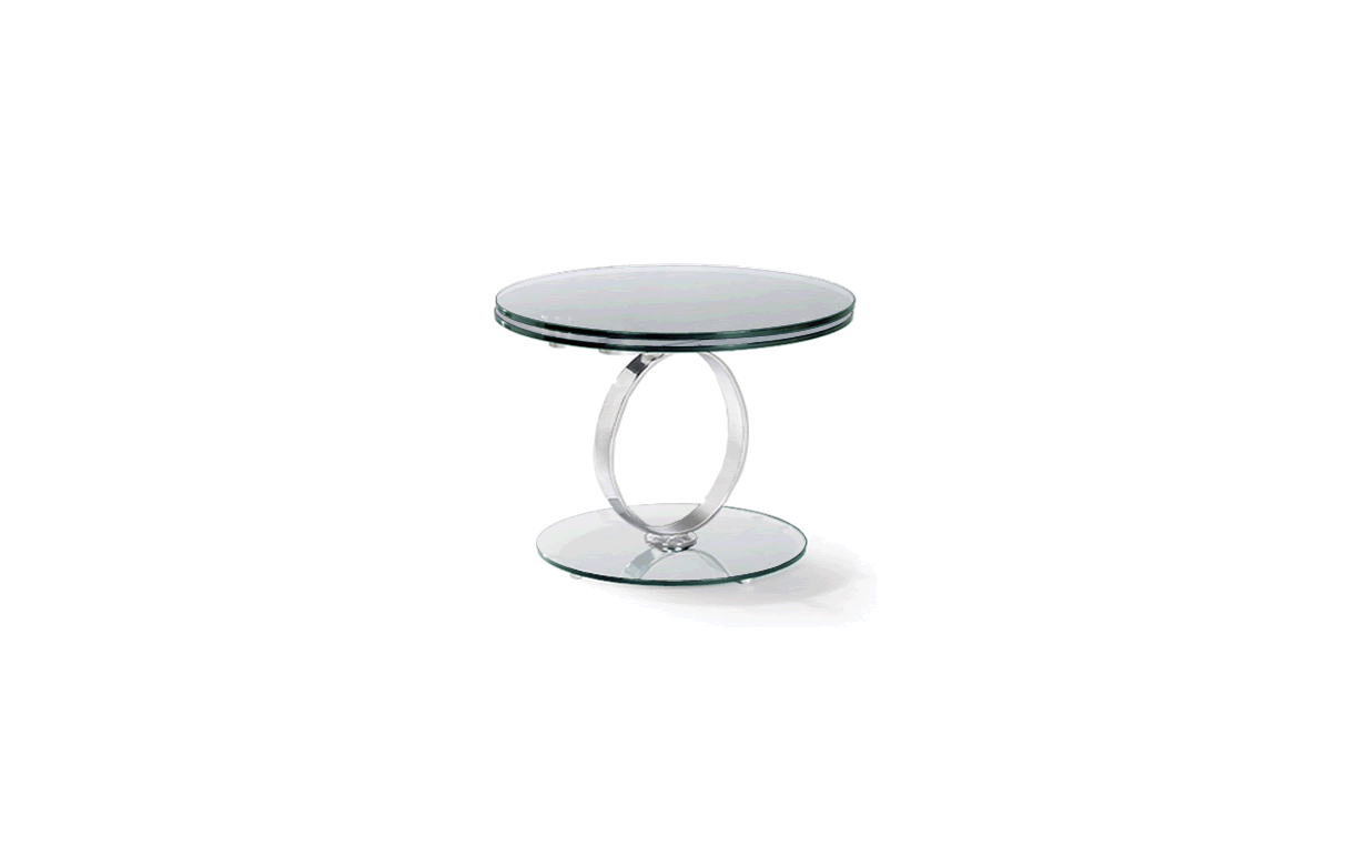 Table Basse Ronde Extensible En Verre Tremp 12mm Brina