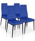 Chaise en simili cuir avec haut dossier Stratis 7 coloris - Lot de 4 -