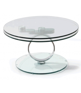 Table basse en verre articulée ANO transparent -