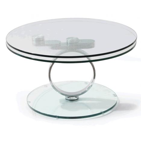 Table basse en verre articulée ANO transparent -