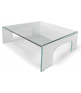 Table basse fixe en verre PONTI -