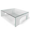 Table basse fixe en verre PONTI -