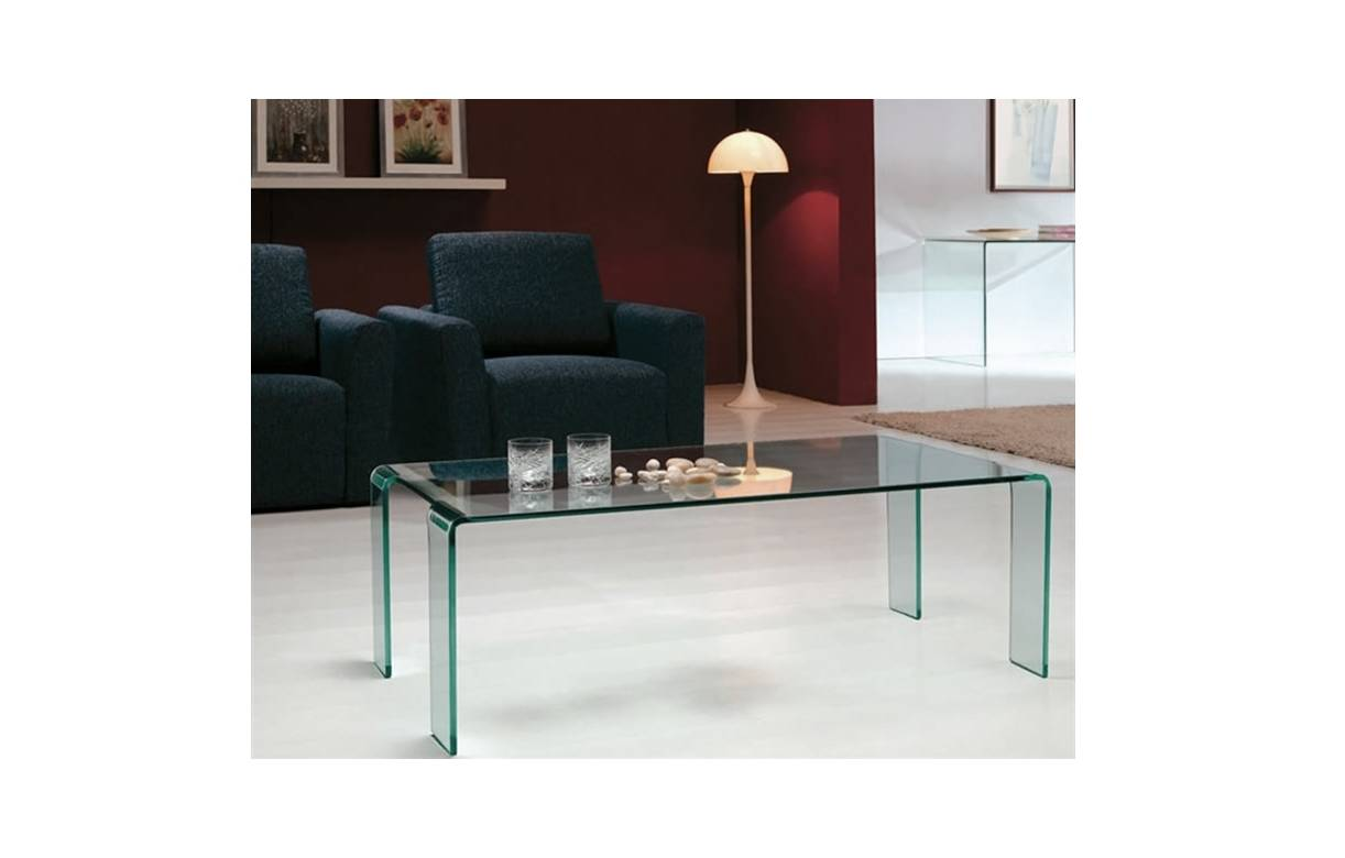 table basse fixe en verre tremp pas ch re. Black Bedroom Furniture Sets. Home Design Ideas