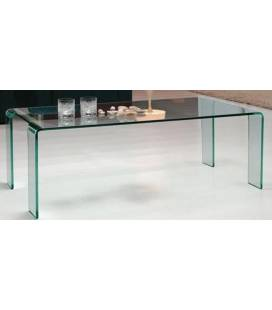 Table basse fixe en verre transparent VIVIAL
