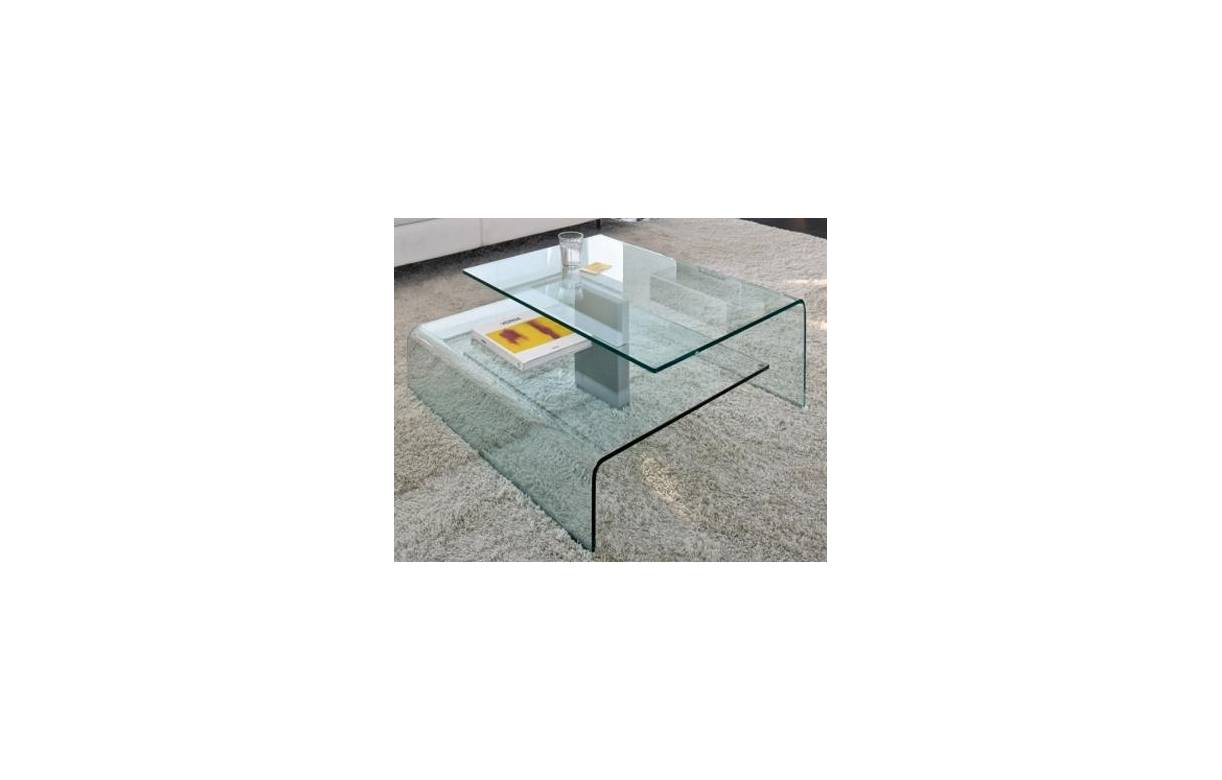 Table basse design en verre bruny decome store - Table basse verre design ...