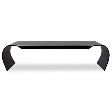 Table basse en verre noir courbé 12mm design -