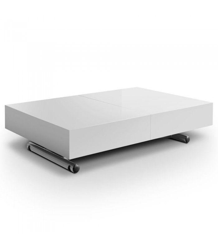 Cassida Table Extensible Laquée Design Relevable Basse Et FJ1cTKl