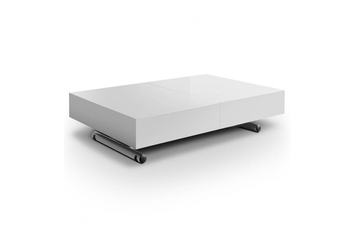Table Basse Design Laqu E Relevable Et Extensible Cassida