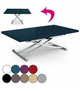 Table basse laquée relevable et dépliable Carreraia XL - 9 coloris