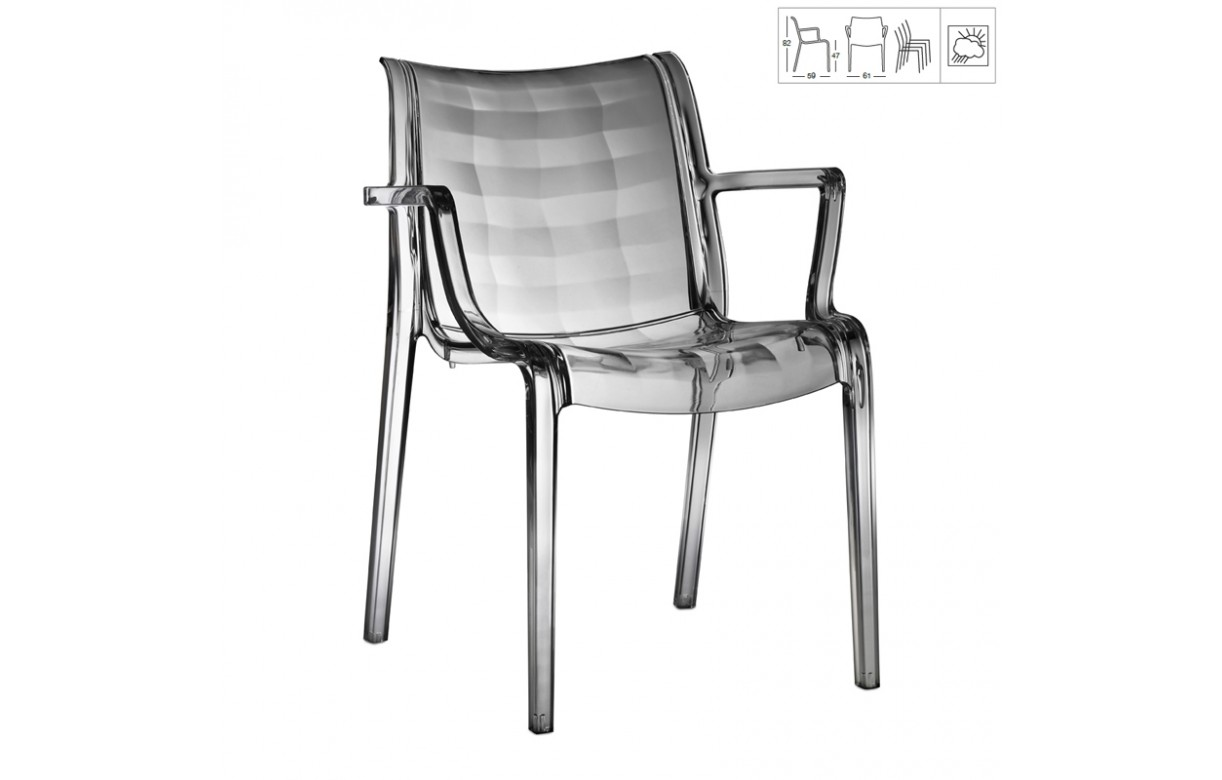 Fauteuil d 39 ext rieur design transparent empilable 4 for Fauteuil exterieur design