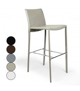 Chaise de bar tabouret en simili cuir Simplio - 5 coloris -
