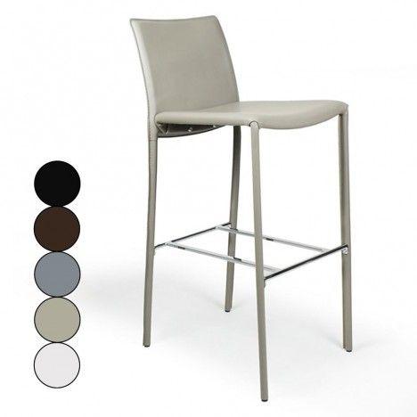 Chaise de bar tabouret en simili cuir Simplio - 5 coloris -