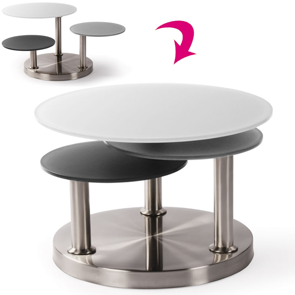 table basse ronde grise excellent table basse kumi grise with table basse ronde grise. Black Bedroom Furniture Sets. Home Design Ideas