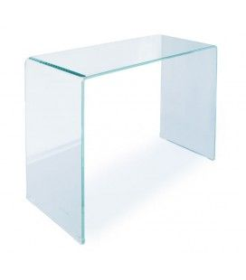Console design en verre transparent 90 ou 110 cm Berily