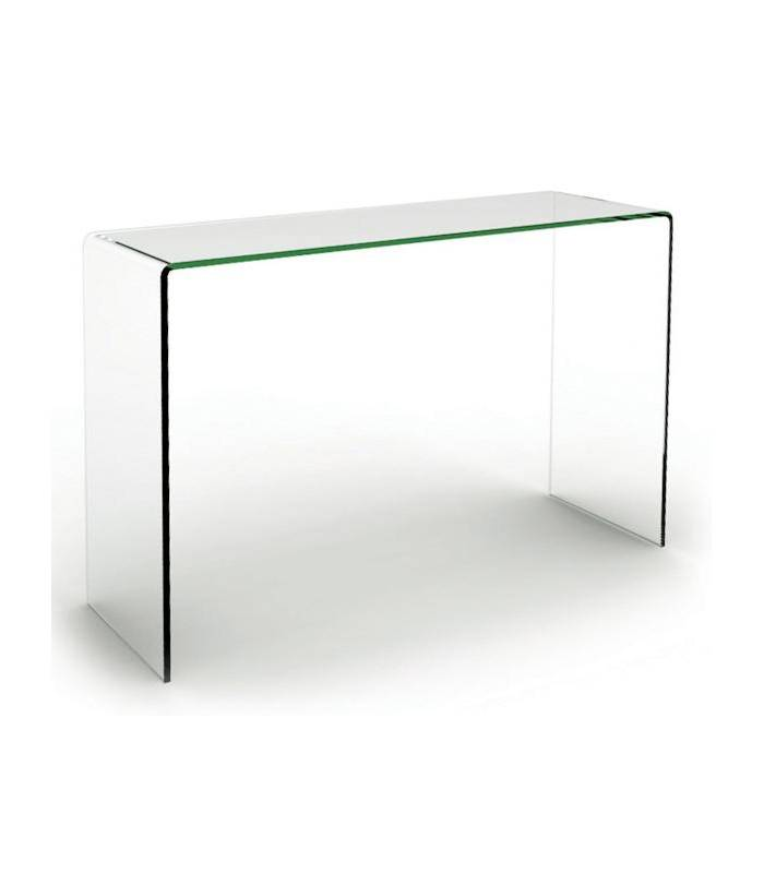 console design en verre transparent pas ch re. Black Bedroom Furniture Sets. Home Design Ideas